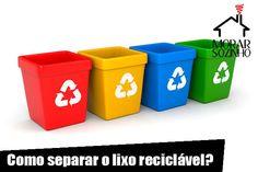 Como separar o lixo reciclável