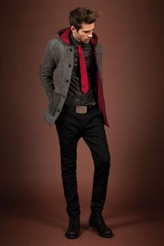 #grey #black #red #men's ----Lookbook F/W 13-14 Gaudì