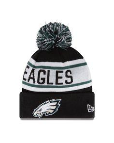 d2e837b089d NFL Philadelphia Eagles Biggest Fan Redux Beanie Acrylic outer with Fleece  lining for added warmth New Era Pom Pom Cuff Knit Fashion Knit