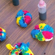 Tye- Dye shirts for the boys for A's party
