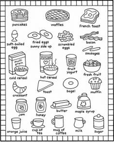 breakfast coloring pages kids recipes books food and kitchen toys