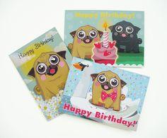 #Etsy #etsyshop #pugs #pug #fawnpug #blackpug #pugillustration #pugprint #funnypug #cutepug #sweetpug #pugbirthday #pugcard #birthdaycard #happybirthday #funnydog #dogillustration #dogart #cute #birthdaymuffin #birthdaycake #gift #doglovers #puglovers