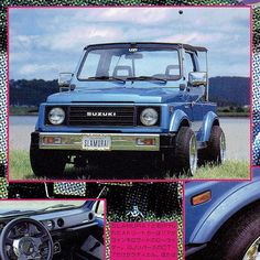 Suzuki Sj 410, Jimny Suzuki, Lowrider Trucks, Car Supplies, Rat Fink, Mini Trucks, Toyota Cars, Jeeps, Confessions