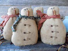 Primitive snowman bowl filler.