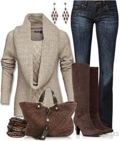 """""""Comfy Sweater"""" by mclaires on Polyvore"""
