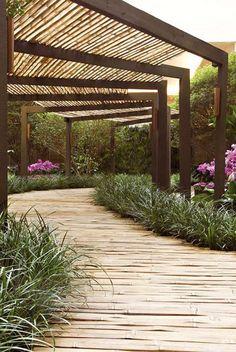 walkway covered modern trellis