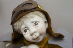 Collectible dolls handmade.  Dreamers.  Tumbler.  Arts and crafts fair.  Woolen cloth, dry Felting