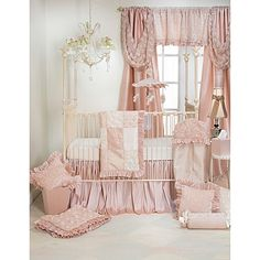 Glenna Jean Paris 3-Piece Crib Bedding Set in Pink/Cream
