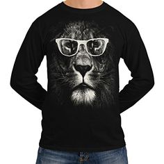 Wellcoda | Hipster Lion Glasses Mens NEW Animal Face Black Long Sleeve T-shirt XL Wellcoda http://www.amazon.co.uk/dp/B00UARH77W/ref=cm_sw_r_pi_dp_sipexb09QT28W
