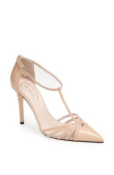 "Sarah Jessica Parker Shoe Collection Nude Pump 'Carrie'. ""Carrie is obviously one of my favorite people, and this is an ode to her."" Find more nude heels on #nudevotion"