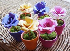 Hey, I found this really awesome Etsy listing at https://www.etsy.com/listing/96813523/paper-flower-in-pot-custom-order-for
