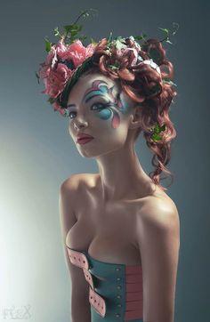 Pin-Up du jour – Floral Countess par FlexDreams