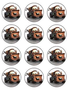 mater cupcake toppers | Ashleigh | Flickr