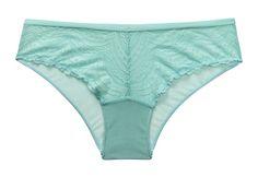 Turquoise lace brazilian panty
