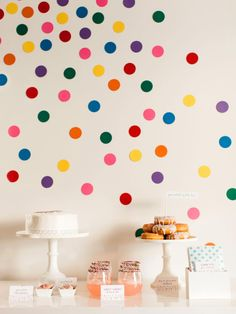 DIY Network shows you how to make easy confetti wall dots to decorate for your next party.
