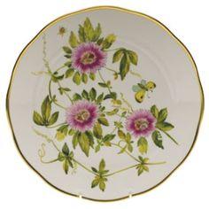 Herend American Wildflower Dinner Plate - Passion Flower