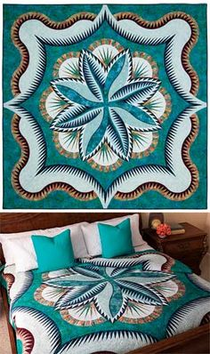 FIRE ISLAND HOSTA QUEEN QUILT KIT Would love to have this pattern, only costs $78, I mean really! --C