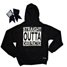 Straight Outta Cheer Practice ComBow by ChosenBows on Etsy: Cheer Coaches, Cheer Stunts, Cheerleading Outfits, Cheer Dance, Cheerleading Stunting, Cheer Athletics, Cute Cheer Shirts, Cute Cheer Bows, Cheer Mom