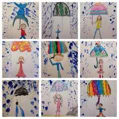 April Showers Art Project.