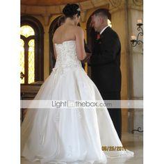 Lanting Bride® Ball Gown Petite / Plus Sizes Wedding Dress - Classic & Timeless / Elegant & LuxuriousWedding Dresses With Wrap / Sparkle 80720 2017 – $149.99