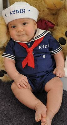 Baby boys sailor suit outfit personalized free from 3 months to 4 toddler  sc 1 st  Pinterest & 75 best Sailor Kids u0026 Babies images on Pinterest | Little girl ...