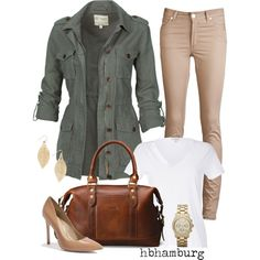 """No. 230 - Military Jacket"" by hbhamburg on Polyvore"