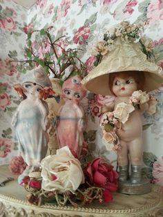 CORRABELLE ROSE: Carnival Chalkware Dolls
