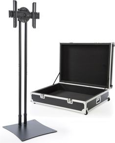 "Portable TV Stand w/ Rotating Bracket Fits Monitors 32""-70"", Travel Case - Black"
