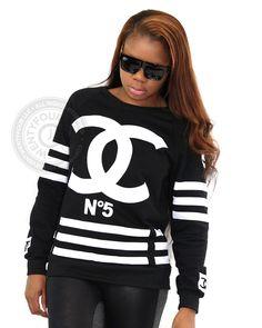 Chanel Inspired No.5 Coco Sweatshirt