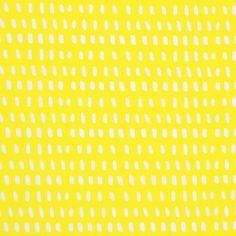 Tissu coton jaune petits traits Deco, Poplin, Cotton Canvas, Yellow, Fabrics, Color, Decor, Deko, Decorating