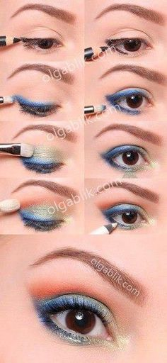 9883fa7d6e9 m Makeup Lessons, Makeup Tips, Makeup Tutorials, Makeup Ideas, Blue Smokey  Eye