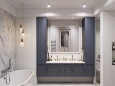 m on Behance Small Bathroom Layout, Modern Bathroom Design, Home Interior, Bathroom Interior, Bath Tube, Adobe Photoshop, Design Digital, Modern Kitchen Interiors, Bathroom Inspiration
