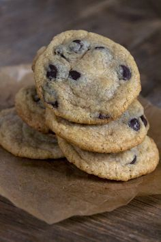 Gluten Free Soft Batch Chocolate Chip Cookies - Gluten-Free on a Shoestring / Wholesome Foodie <3