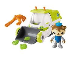 Inspired by the yeti crab the Gup-Y's long arms make it the Octonauts' ideal vehicle for hauling lifting and even scooping up sea goop! Slide the lever to lift the Gup's arms and to load the slime r...