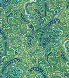 Solaruim Outdoor Canvas-Merona Caribbean - JoAnn's Fabric - possibility for the Aunt Eunice chair.