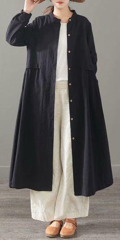 Women Loose Cotton Linen Long Shirt Casual Spring Blouse 1501 – Daily Fashion Tips Iranian Women Fashion, Muslim Fashion, Modest Fashion, Hijab Fashion, Fashion Dresses, Casual Hijab Outfit, Casual Outfits, Women's Dresses, Casual Dresses
