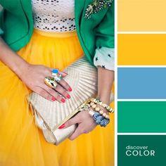 16 примеров идеального сочетания цветов в одежде — Зеленый зонтик