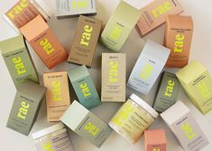 Rae Co-Founders And Former Target Execs Angela Tebbe and Eric Carl Believe Cool, Effective Supplements Shouldn't Cost A Ton - Beauty Independent Packaging Box Design, Cool Packaging, Tea Packaging, Cosmetic Packaging, Beauty Packaging, Print Packaging, Product Packaging, Product Branding, Package Design