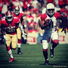 AZCardinals WR  Larry Fitzgerald breaks free for a 75yd touchdown during   AZvsSF. Cardinals NflArizona ... a9c54c6dc