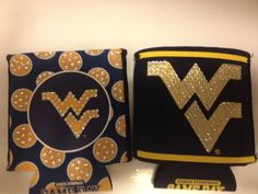 WVU College Football Bling Coozie