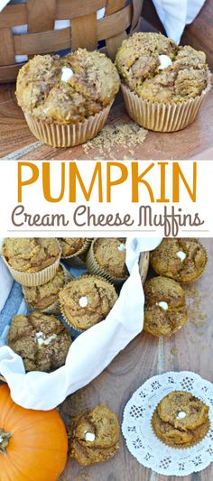 These scrumptious pumpkin muffins are super moist and have a delicious, smooth cream cheese filling inside! They'll make the perfect breakfast treat or afternoon snack this fall!