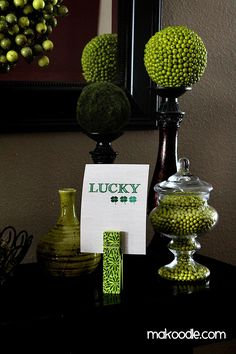 St. Patrick's Day Decor can be done with items you already own • Lucky Printable Decor for St. Patrick's Day