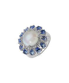 Look at this Opal & Tanzanite Circle Ring on #zulily today!