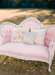 Pink loveseat