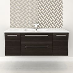 Cutler Kitchen & Bath Silhouette Collection 48-in Wall Hung Vanity with Top at ATG Stores