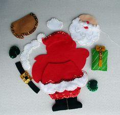Christmas Crafts To Make, Felt Christmas Ornaments, Christmas Stockings, Christmas Decorations, Holiday Decor, Christmas Printables, Xmas, Diy Crafts, Handmade