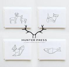 thehunterpress: New Range: Scottish Origami Stationery: