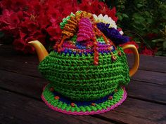 Crocheted Six Cup Teapot Cozy with by ParkerWittySoftgoods