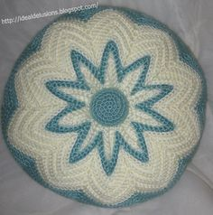 Ideal Delusions: Retro Round Ripple Pillow