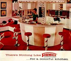 wow!! Vintage Formica advertisement for 'colorful kitchen'!!!!!!!